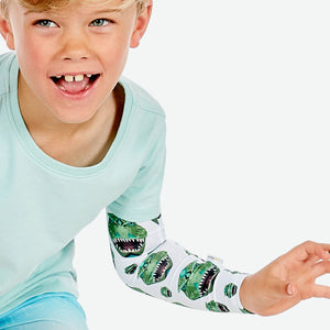 Sun protective sleeves for children - Dinosaur detail