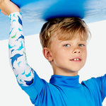 Sun protective sleeves for children - Dolphin swatch