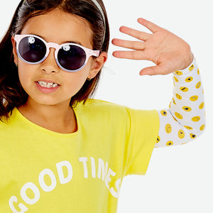 Sun protective sleeves for children - Emoji detail