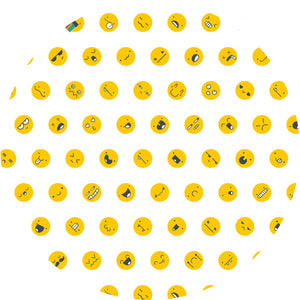 Sun protective sleeves for children - Emoji swatch