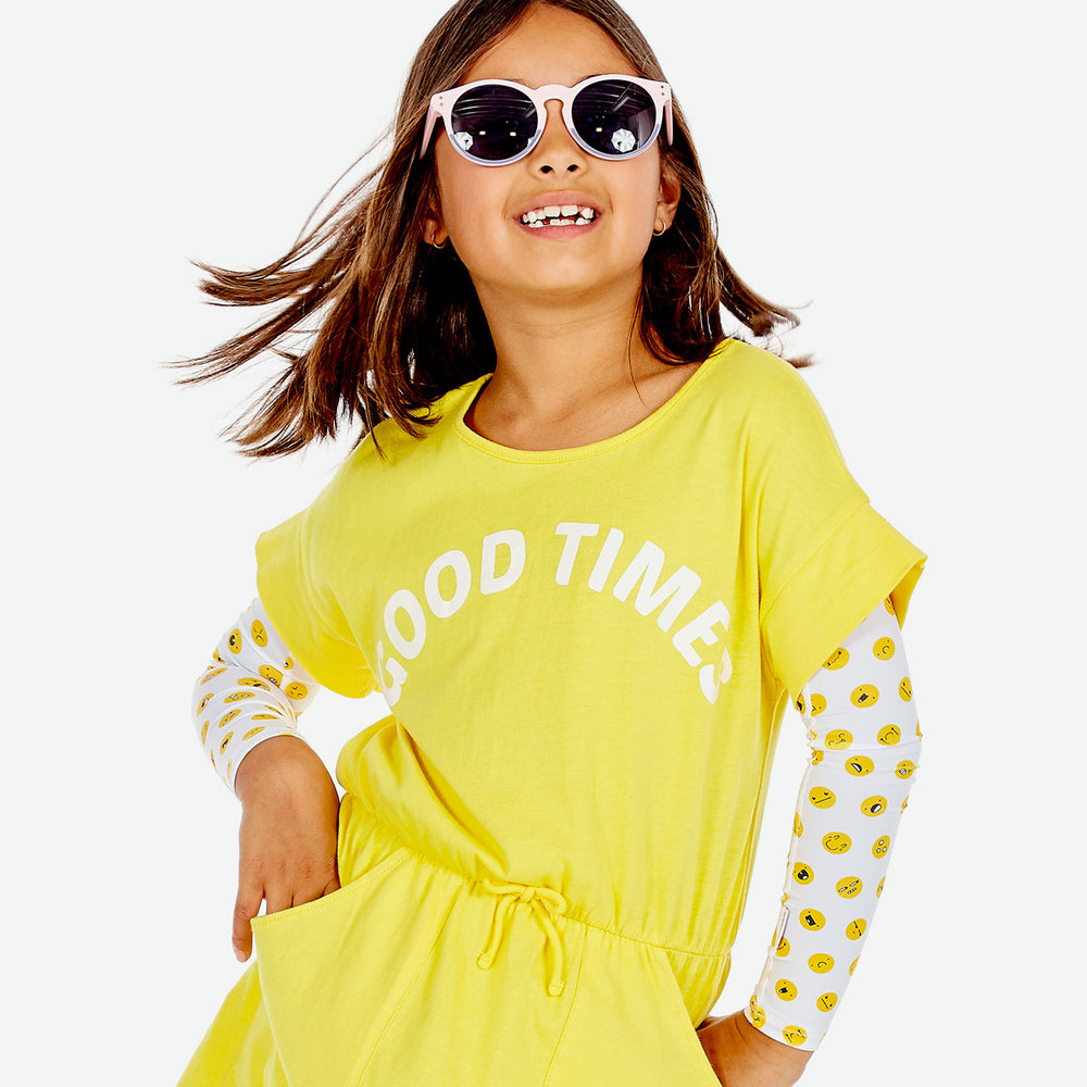 Sun protective sleeves for children - Emoji design