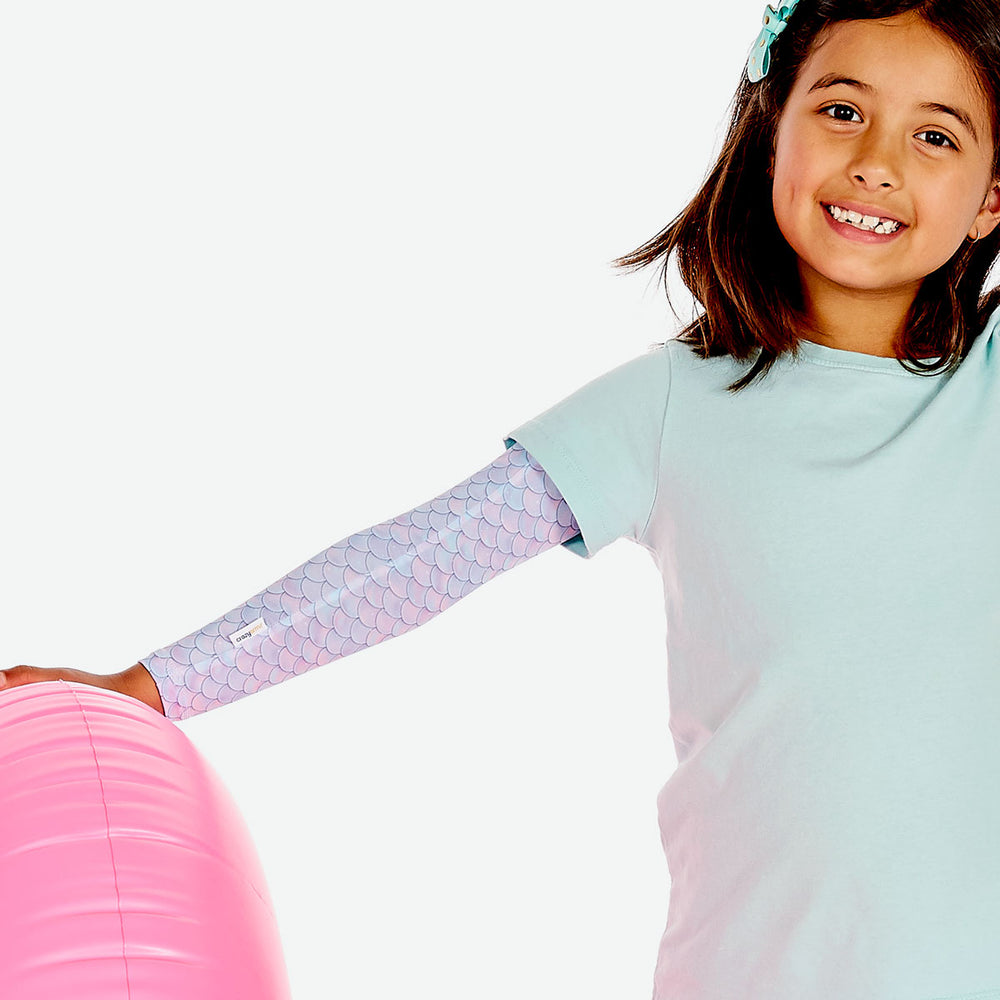 Sun protective sleeves for children - Mermaid detail