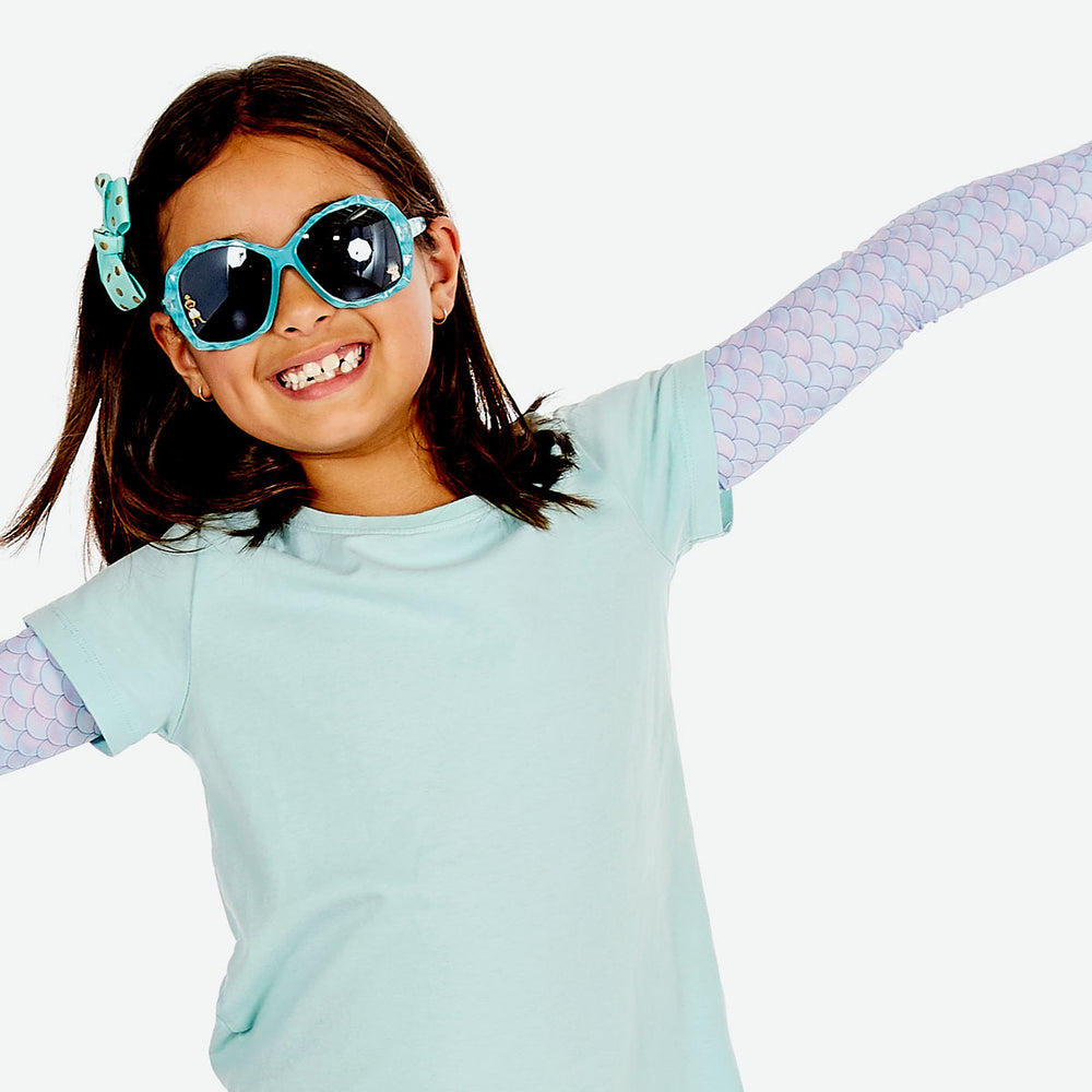 Sun protective sleeves for children - Mermaid design