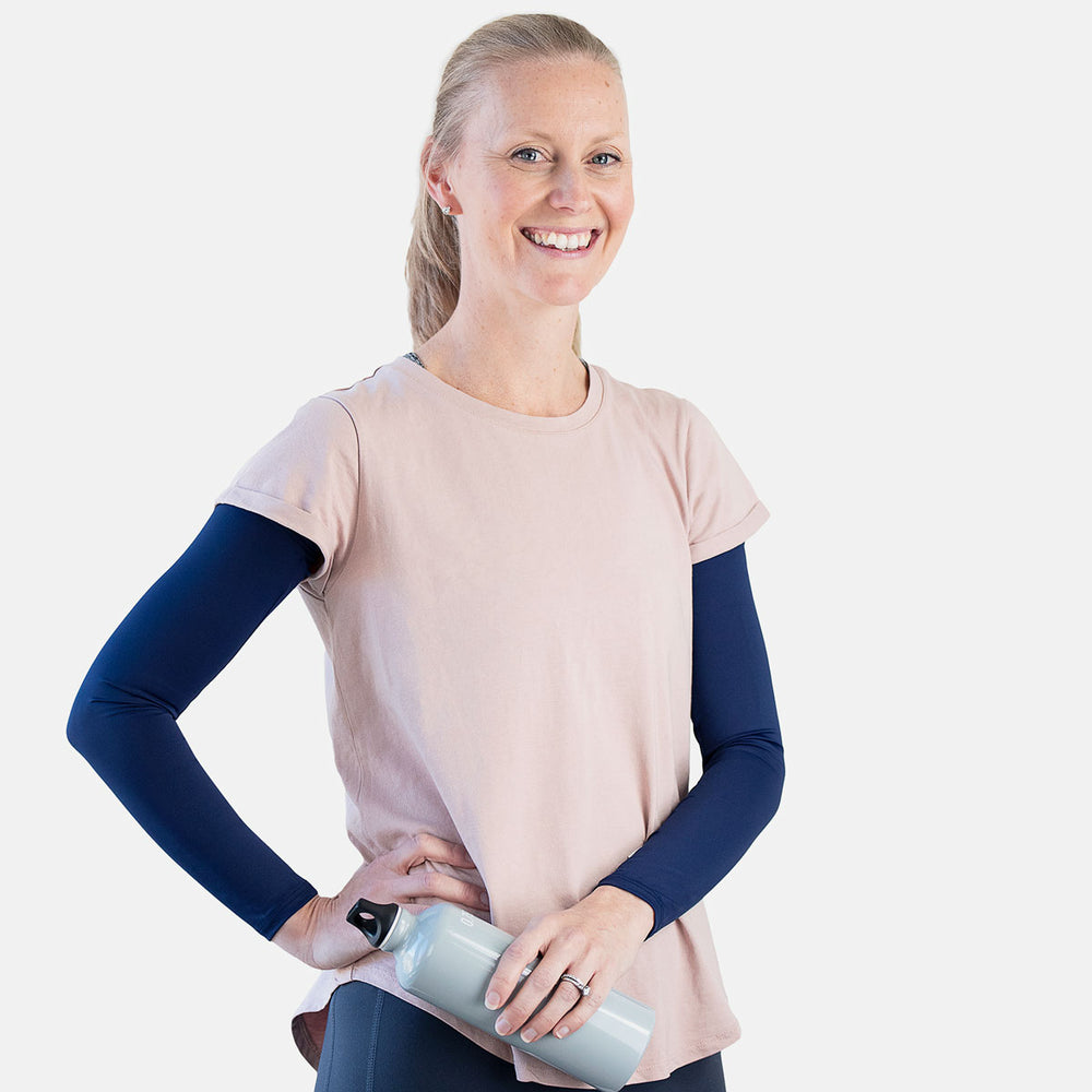 Dark Blue Arm Sleeves – Women