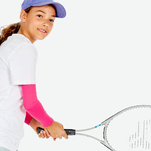 Sun protective sleeves for children - Pink detail