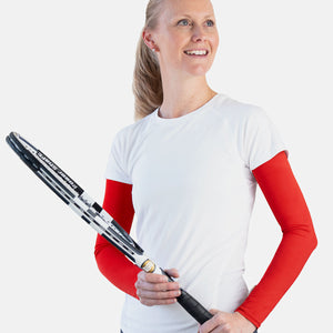 Womens sun protective sleeves - Diablo Red design