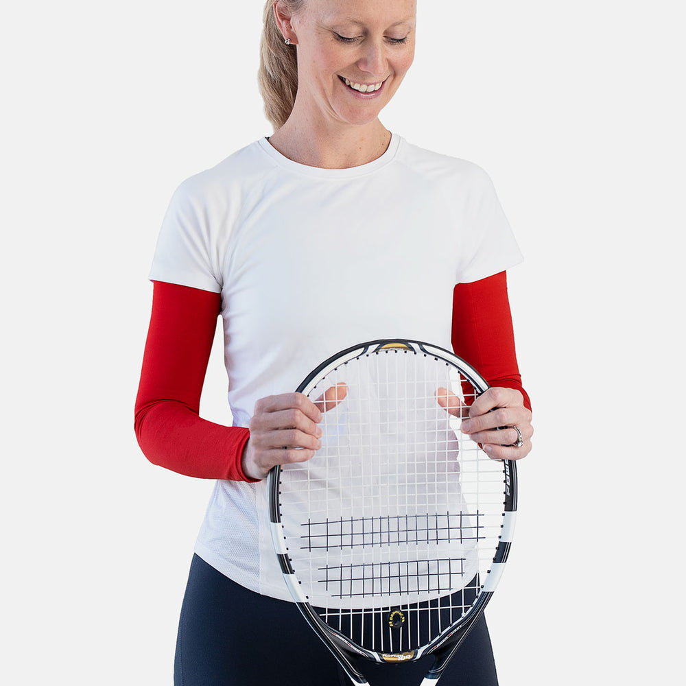 Womens sun protective sleeves - Diablo Red