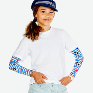 Sun protective sleeves for children - Sailor design