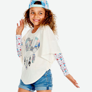 Sun protective sleeves for children - Tea Party design
