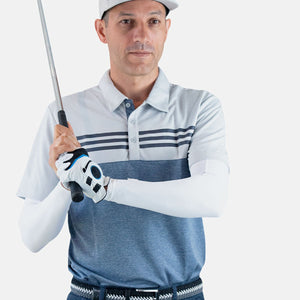 mens golf sleeves white