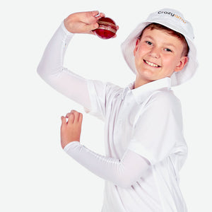 Sun protective sleeves for children - White
