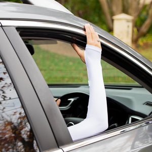 UPF 50+ Driving Sleeve - White Adult Single Sleeve