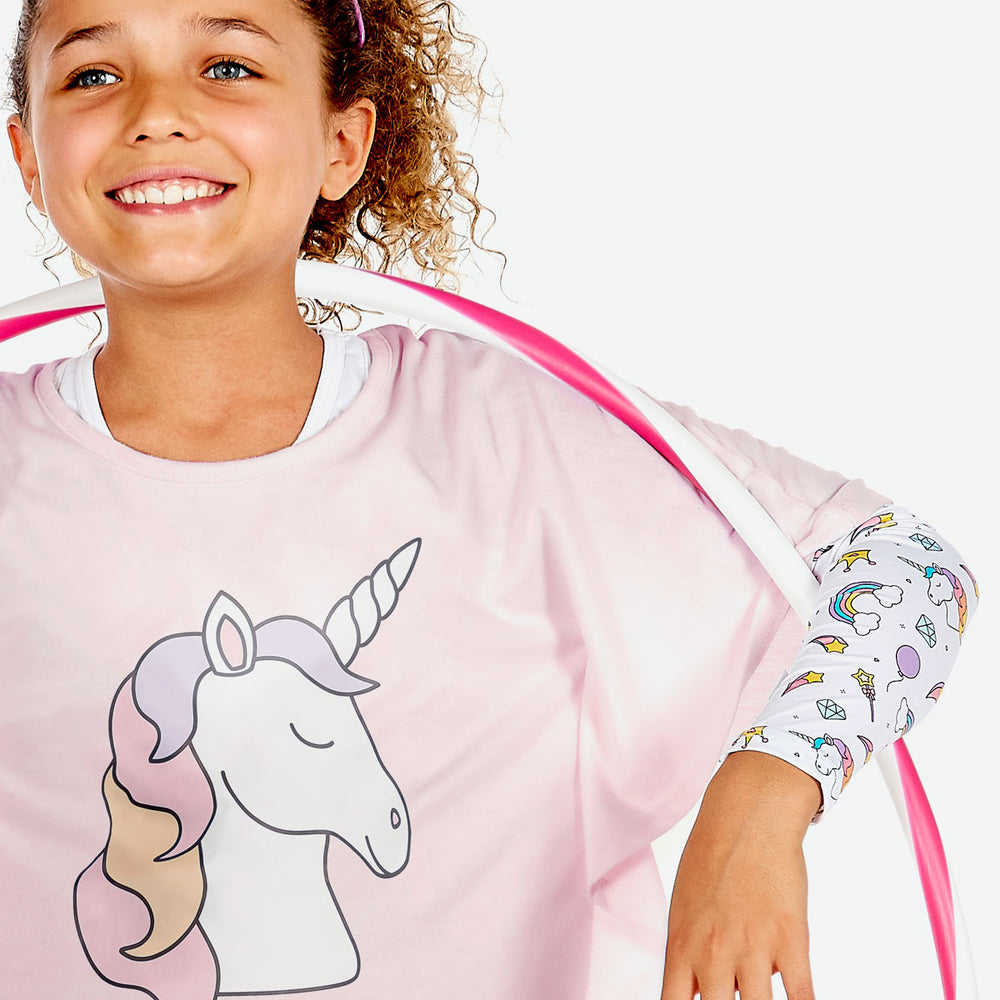 Sun protective sleeves for children - Unicorn detail