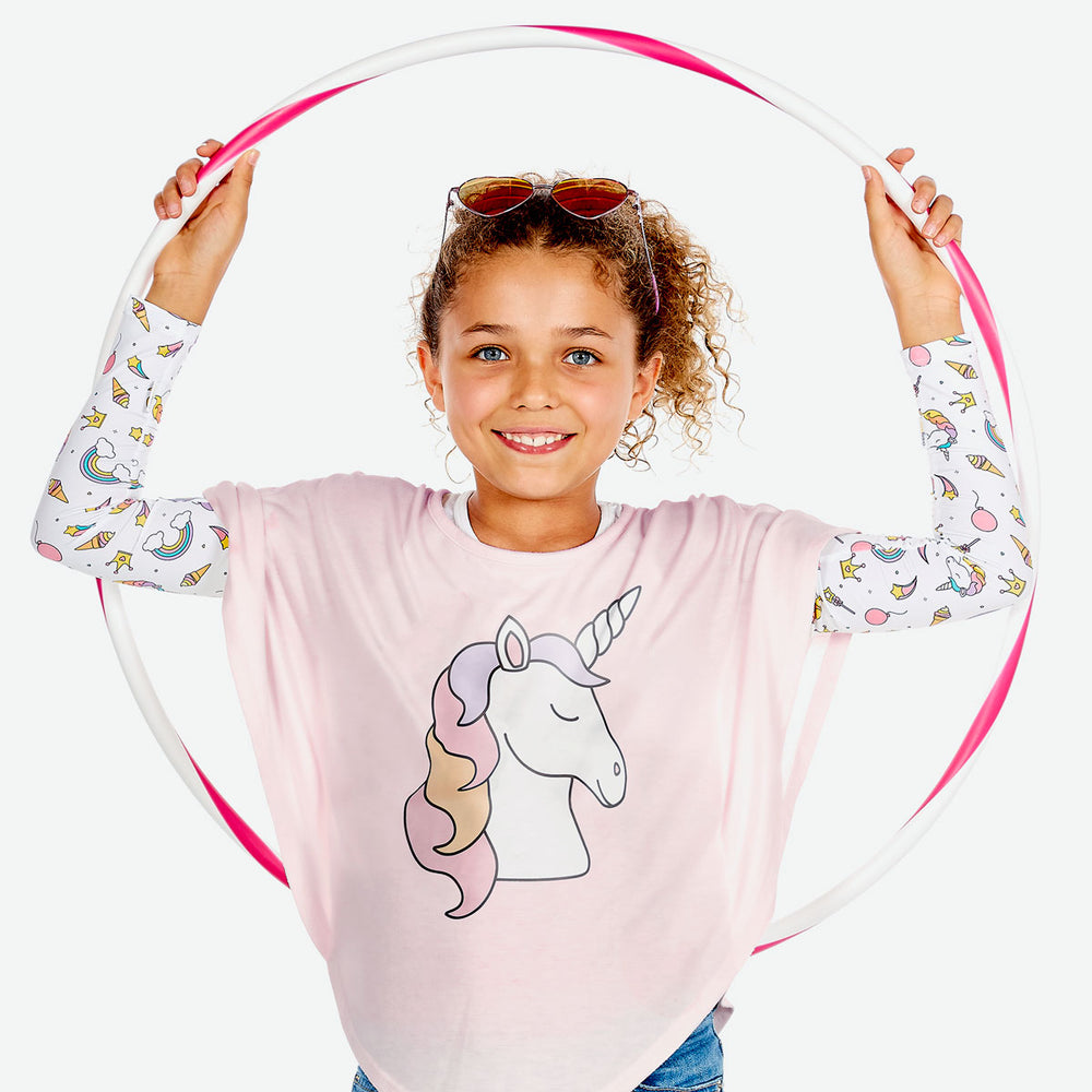 Sun protective sleeves for children - Unicorn design