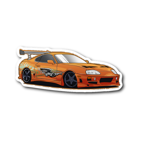 Brian's Supra Die Cut Sticker