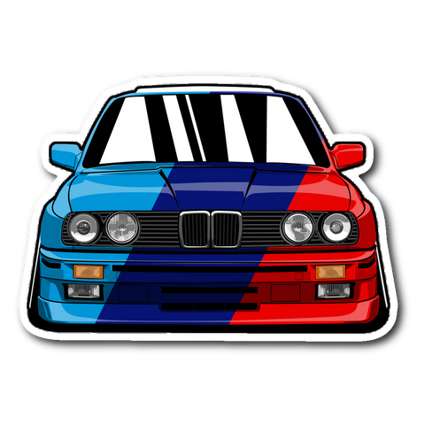E30 Mutlicolor Sticker Stickers E30 Mutlicolor Sticker - Automotive Army teelaunch