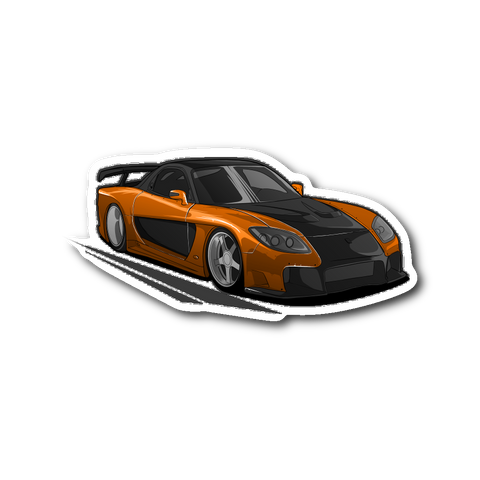 Han's RX7 Die Cut Sticker