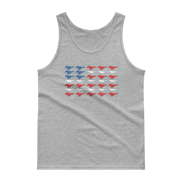 Pony Flag Tank top Pony Flag Tank top - Automotive Army Mustang Vibes