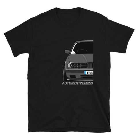Grey Slammed E34 Unisex T-Shirt Grey Slammed E34 Unisex T-Shirt - Automotive Army Automotive Army