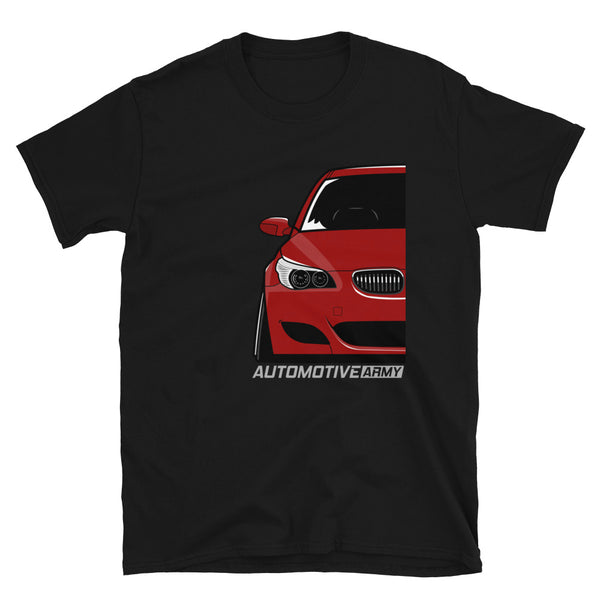 Indy Red Slammed E60 Unisex T-Shirt Indy Red Slammed E60 Unisex T-Shirt - Automotive Army Automotive Army