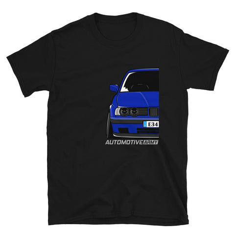 Avus Blue Slammed E34 Unisex T-Shirt Avus Blue Slammed E34 Unisex T-Shirt - Automotive Army Automotive Army