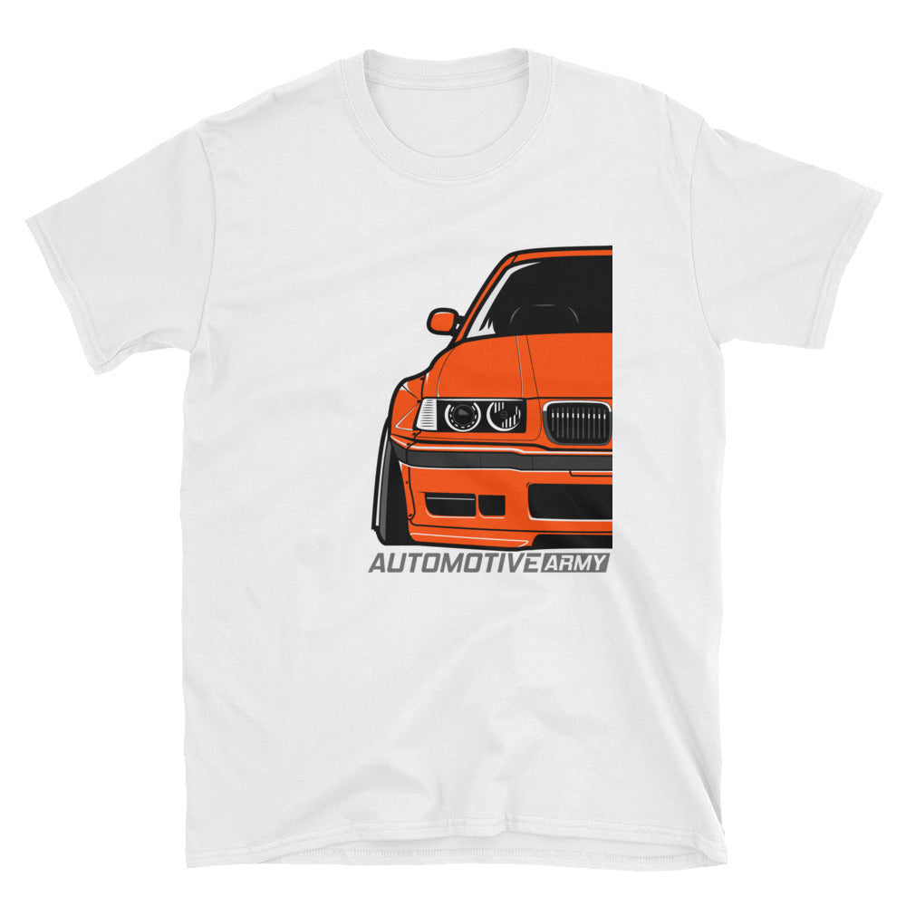 Orange E36 Widebody Unisex T-Shirt Orange E36 Widebody Unisex T-Shirt - Automotive Army Automotive Army
