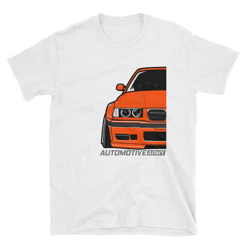 Orange E36 Widebody Unisex T-Shirt