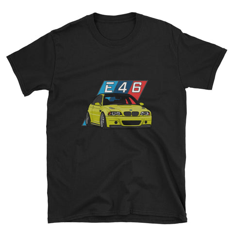 Phoenix Yellow E46 Unisex T-Shirt Phoenix Yellow E46 Unisex T-Shirt - Automotive Army Automotive Army