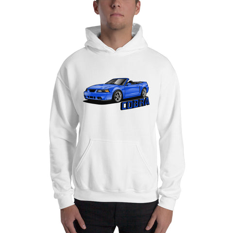 Sonic Blue Cobra Vert Hooded Sweatshirt