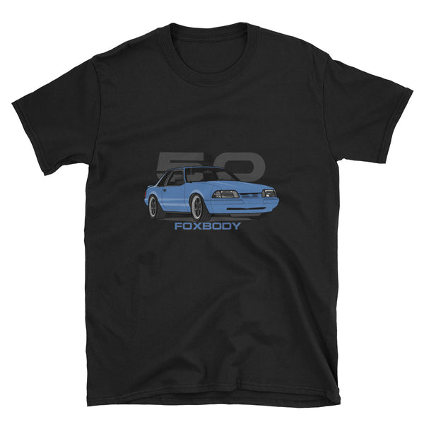 Light Blue Notchback Unisex T-Shirt