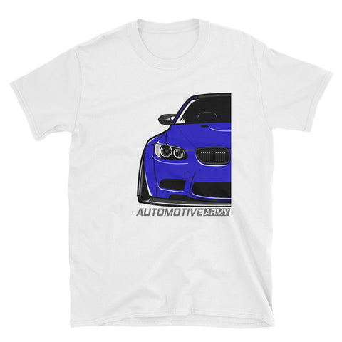 Blue E92 Widebody Unisex T-Shirt Blue E92 Widebody Unisex T-Shirt - Automotive Army Automotive Army