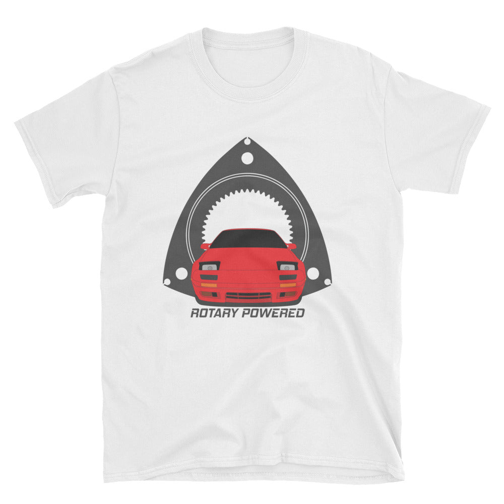 Red FC Rotary Powered Unisex T-Shirt Red FC Rotary Powered Unisex T-Shirt - Automotive Army Automotive Army