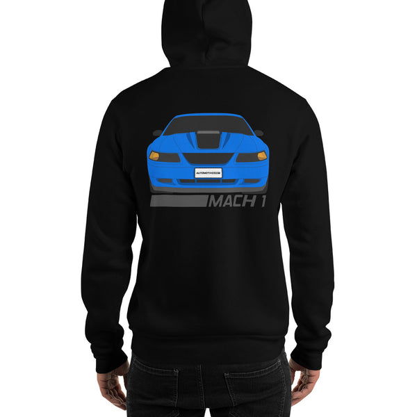 Azure Blue Mach 1 Hooded Sweatshirt