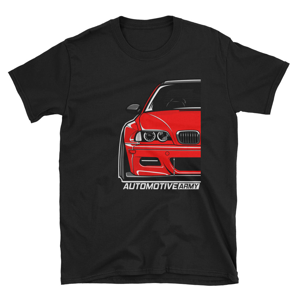 Imola Red Wide E46 Unsex T-shirt Imola Red Wide E46 Unsex T-shirt - Automotive Army Automotive Army