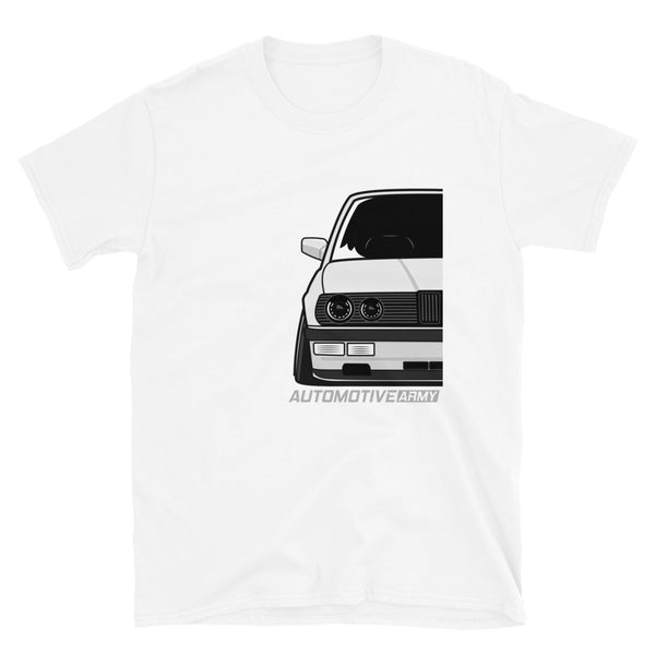 White Slammed E28 Unisex T-Shirt White Slammed E28 Unisex T-Shirt - Automotive Army Automotive Army