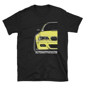 Dakar Yellow Wide E46 Unisex T-Shirt Dakar Yellow Wide E46 Unisex T-Shirt - Automotive Army Automotive Army