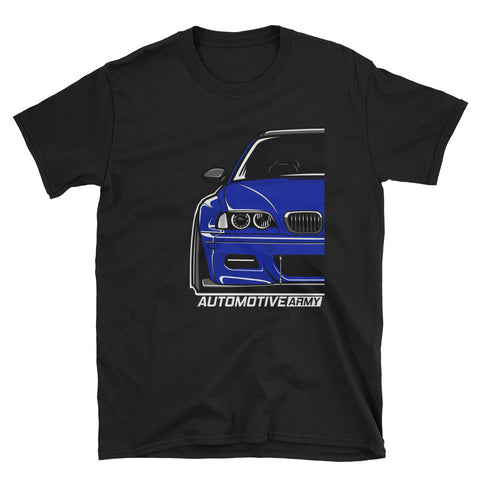 Interlagos Blue Wide E46 Unisex T-Shirt Interlagos Blue Wide E46 Unisex T-Shirt - Automotive Army Automotive Army