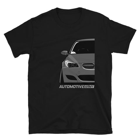 Grey Slammed E60 Unisex T-Shirt Grey Slammed E60 Unisex T-Shirt - Automotive Army Automotive Army
