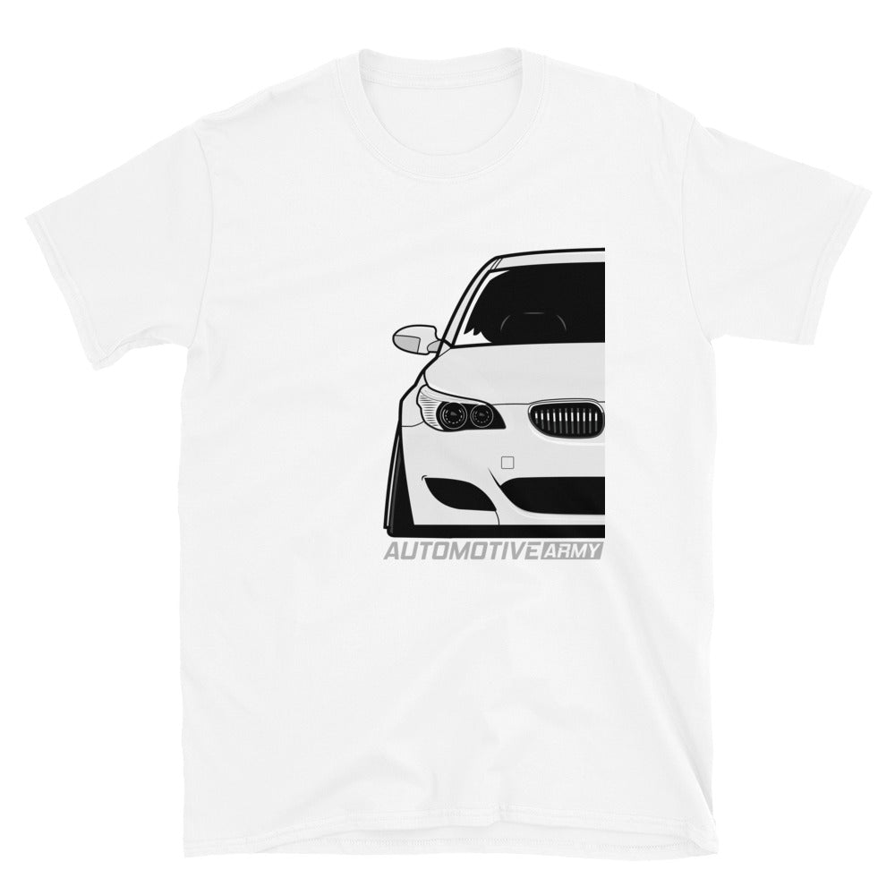 White Slammed E60 Unisex T-Shirt White Slammed E60 Unisex T-Shirt - Automotive Army Automotive Army