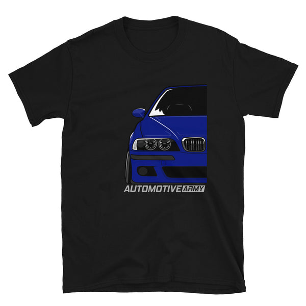Blue Slammed E39 Unisex T-Shirt Blue Slammed E39 Unisex T-Shirt - Automotive Army Automotive Army