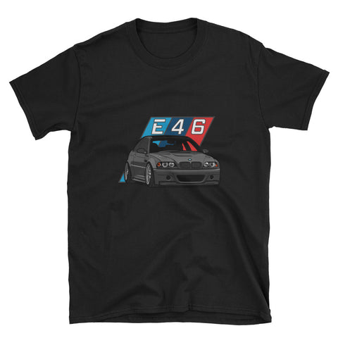 Black E46 Unisex T-Shirt Black E46 Unisex T-Shirt - Automotive Army Automotive Army
