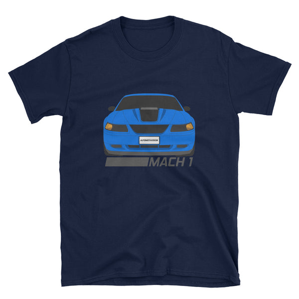 Azure Blue Mach 1 Unisex T-Shirt Azure Blue Mach 1 Unisex T-Shirt - Automotive Army Automotive Army