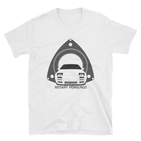 White FC Rotary Powered Unisex T-Shirt