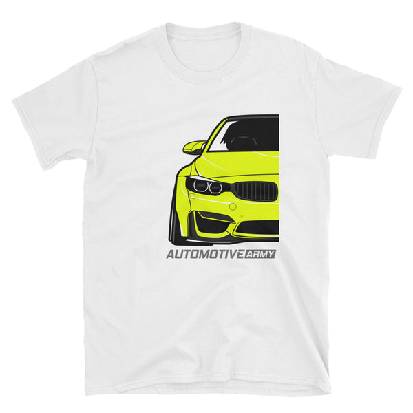 Yellow F80/F82 Widebody Unisex T-Shirt Yellow F80/F82 Widebody Unisex T-Shirt - Automotive Army Automotive Army