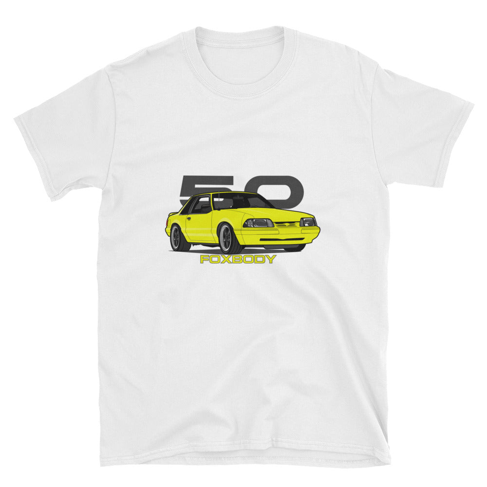Yellow Notchback Unisex T-Shirt