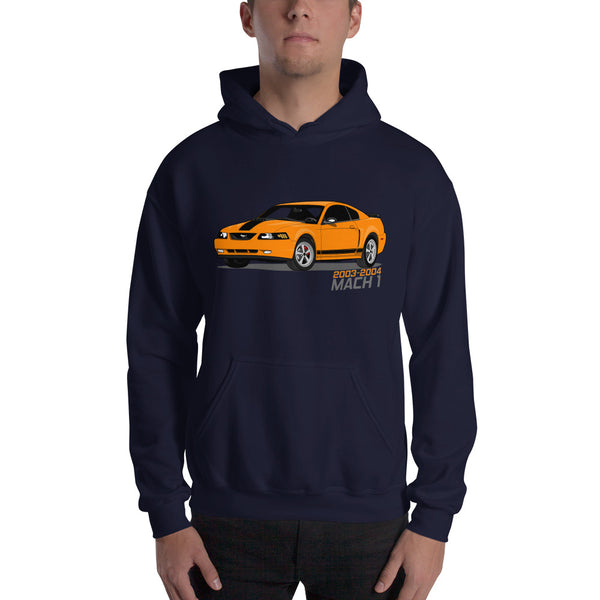 Competition Orange Mach 1 Hooded Sweatshirt Competition Orange Mach 1 Hooded Sweatshirt - Automotive Army Automotive Army