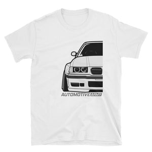 White E36 Widebody Unisex T-Shirt White E36 Widebody Unisex T-Shirt - Automotive Army Automotive Army