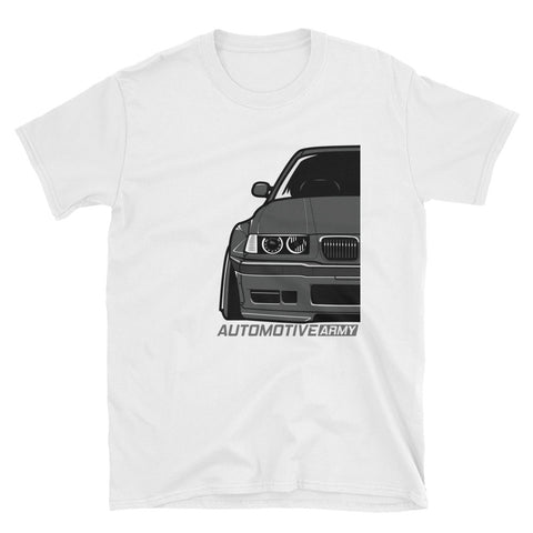 Grey E36 Widebody Unisex T-Shirt Grey E36 Widebody Unisex T-Shirt - Automotive Army Automotive Army