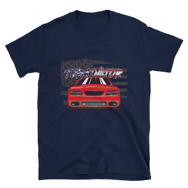 Torch Red American Terminator Unisex T-Shirt Torch Red American Terminator Unisex T-Shirt - Automotive Army Automotive Army