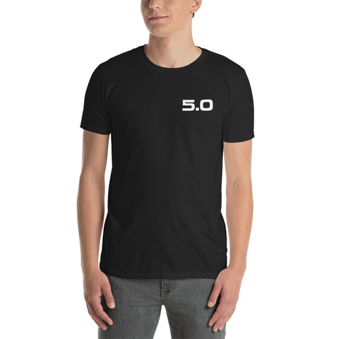 5.0 Badge Unisex T-Shirt 5.0 Badge Unisex T-Shirt - Automotive Army Mustang Vibes